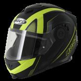 Kask motocyklowy ROCC 882 czarny mat/neonowy  M