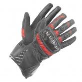 Rękawice motocyklowe BUSE Misano czarno-czerwone
