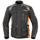 Kurtka motocyklowa BUSE Highland czarno-pomarańczowa
