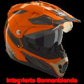 Kask motocyklowy ROCC 771 czarno-pomarańczowy M