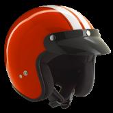 Kask motocyklowy ROCC Classic Dekor czerwono-biały