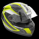 Kask motocyklowy ROCC 321 czarno-neonowy