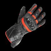 Rękawice motocyklowe BUSE Misano czarno-biało-neonowe