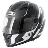 Kask motocyklowy ROCC 323 czarno/biały mat  S