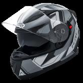 Kask motocyklowy ROCC 412 czarny-srebrny S