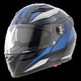Kask motocyklowy ROCC 322 czarny-niebieski M