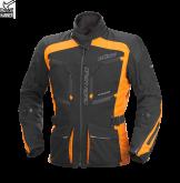 Kurtka motocyklowa BUSE Open Road Evo czarno-pomarańczowa