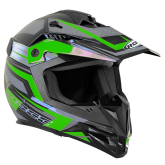 Kask motocyklowy dziecięcy ROCC 712 Jr. czarno-zielony