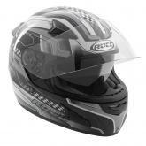 Kask motocyklowy ROCC 446 czarno-szary