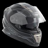 Kask motocyklowy ROCC 486 czarno-szary mat
