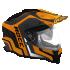Kask motocyklowy ROCC 781 czarno-pomarańczowy