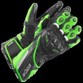Rękawice motocyklowe BUSE Donington Pro czarno-zielone