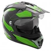 Kask motocyklowy ROCC 771 czarno-zielony