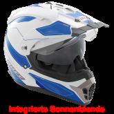 Kask motocyklowy ROCC 771 biało-niebieski S