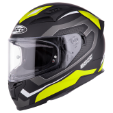 Kask motocyklowy ROCC 331 czarny-żółty neonowy XS