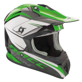 Kask motocyklowy ROCC 741 czarno-zielony
