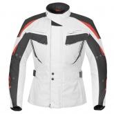 Kurtka motocyklowa BUSE Salerno biało-czarno-czerwona