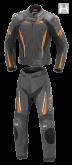 Kombinezon motocyklowy damski BUSE Imola czarno-pomarańczowy 36