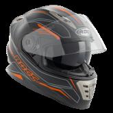 Kask motocyklowy ROCC 486 czarno-pomarańczowy mat
