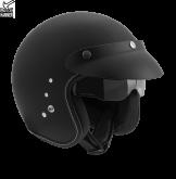 Kask motocyklowy ROCC Classic Pro czarny matowy