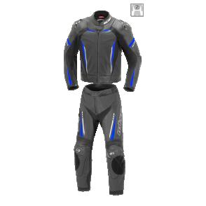 Kombinezon motocyklowy BUSE Imola czarno-niebieski 52