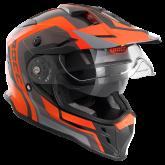 Kask motocyklowy ROCC 781 czarno-pomarańczowy XS