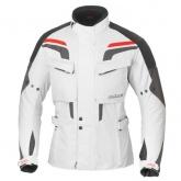 Kurtka motocyklowa BUSE Lago Pro biało-czarno-pomarańczowa